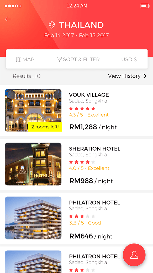 M Hotel (Hotel Booking App)